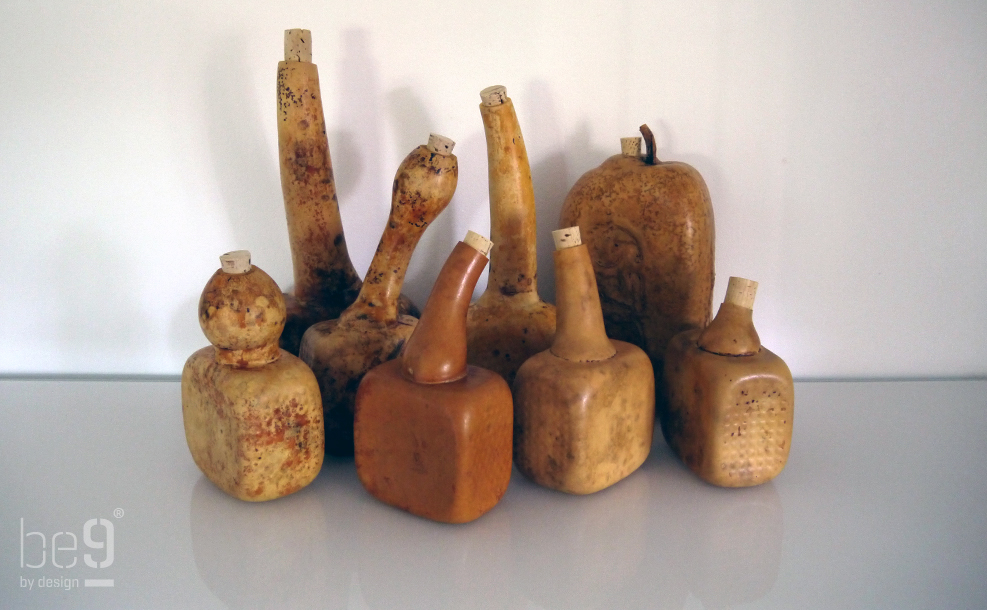 Cured gourds bottles
