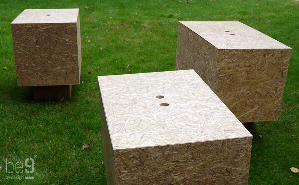 3 nightstands on the grass